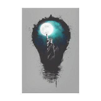 Big city lights stretched canvas prints