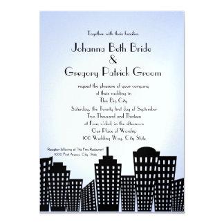 Big City Silhouette Wedding Card