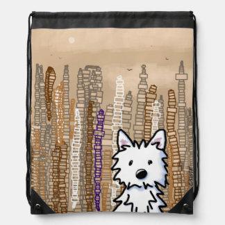 Big City Westie Drawstring Backpacks