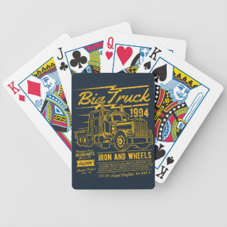 Big Classic USA Truck Iron and Wheels Bicycle Playing Cards