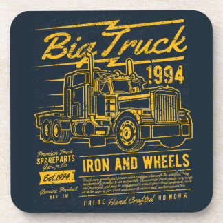 Big Classic USA Truck Iron and Wheels Drink Coaster