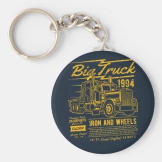 Big Classic USA Truck Iron and Wheels Keychain