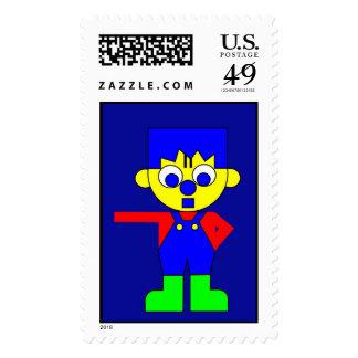 Big Claus Postage Stamp