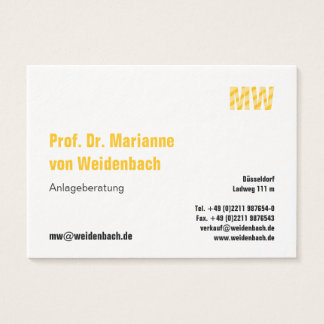 Big, clear, pro! business card