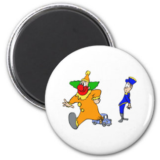 Big clown little car magnets