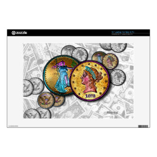 Big Coins LAPTOP ZAZZLE SKIN by PopArtDiva Laptop Decal
