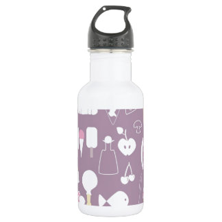 big collection of food 18oz water bottle