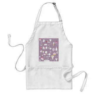 big collection of food adult apron