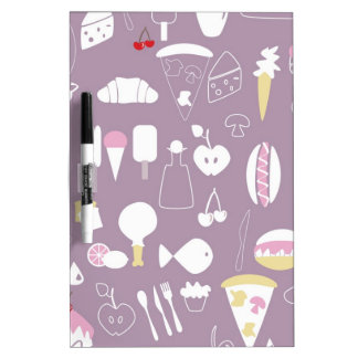 big collection of food Dry-Erase boards