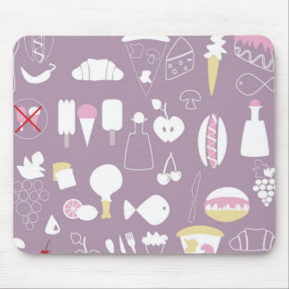 big collection of food mouse pad