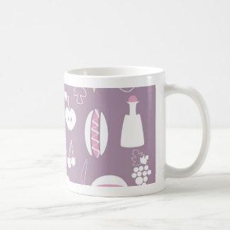 big collection of food classic white coffee mug