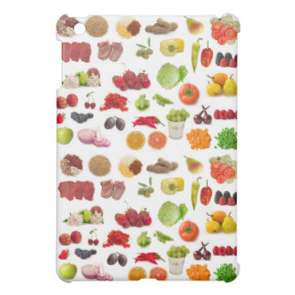 big collection of fruits and vegetables iPad mini covers