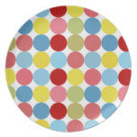 Big Colorful Dots Themed Plate