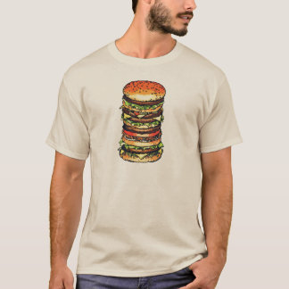 Big, colorful hamburger T-Shirt Zazzle_shirt