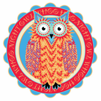 Big Colorful Owl Lover's Night Owl Fridge Statuette