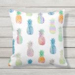 "big colorful pineapples pattern outdoor pillow<br><div class=""desc"">big colorful pineapples pattern pillow</div>"