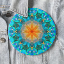 Big Colorful Psychedelic Dreamy Mandala Button