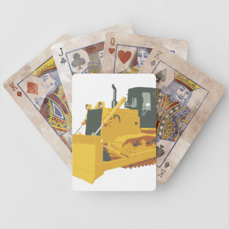 Big Construction Bulldozer on Tracks Bicycle Playing Cards