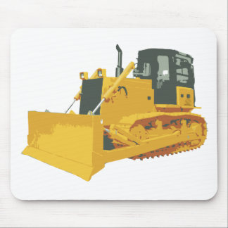Big Construction Bulldozer on Tracks Mouse Pad