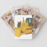 Big Construction Bulldozer on Tracks Poker Cards