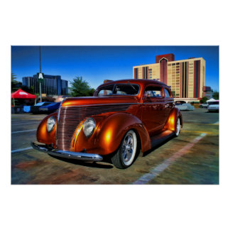 Big Copper Cruiser on color Posters