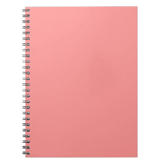 BIG CORAL COLOR BACKGROUND TEMPLATE TEXTURE WALLPA SPIRAL NOTEBOOK