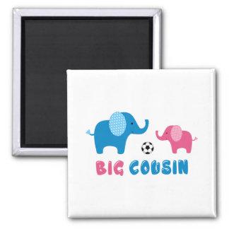 Big Cousin Elephant soccer Magnet