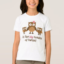 Big Cousin of Twins t-shirts for girls