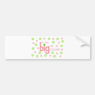 Big cousin polkadot T-shirt Bumper Sticker