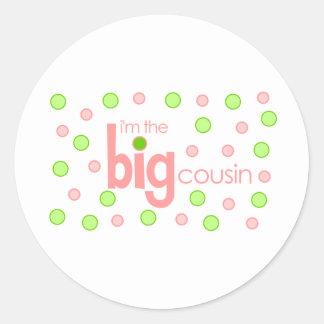 Big cousin polkadot T-shirt Classic Round Sticker