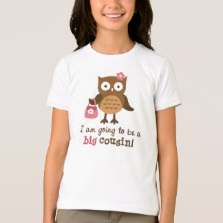 Big Cousin to be - Mod Owl t-shirts for girls