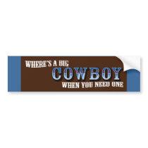 Big Cowboys Bumper Sticker