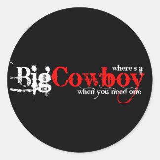Big Cowboys Classic Round Sticker