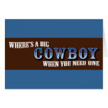 Big Cowboys Greeting Cards