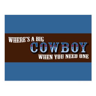Big Cowboys Postcard