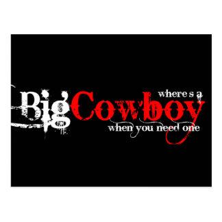 Big Cowboys Post Card