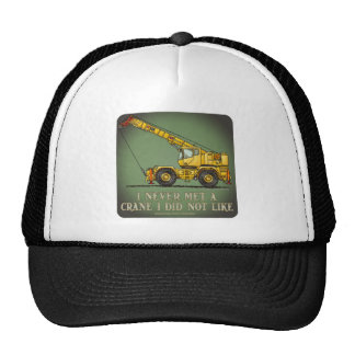 Big Crane Operator Quote Hat