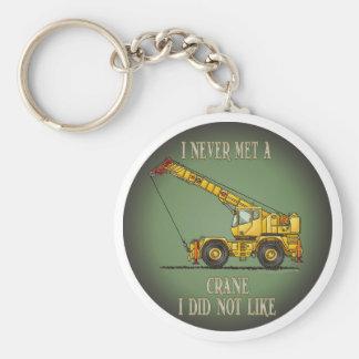 Big Crane Operator Quote Key Chain