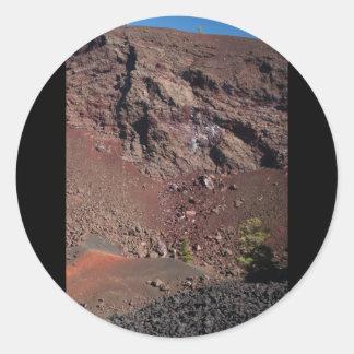 Big Craters Classic Round Sticker