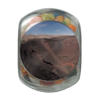 Big Craters Glass Candy Jars