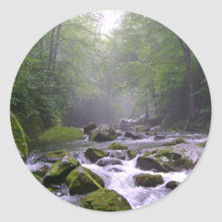 Big Creek in the Great Smoky Mountains Classic Round Sticker