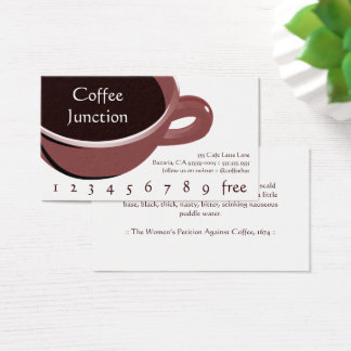 Big Cup of Coffee Drink Punch / Loyalty Card
