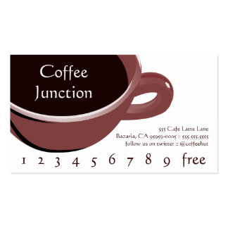 Big Cup of Coffee Drink Punch / Loyalty Card Business Card