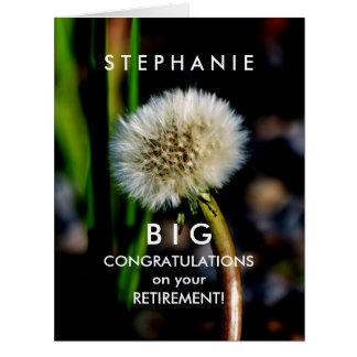 BIG Custom Retirement Congratulations Make a Wish Card