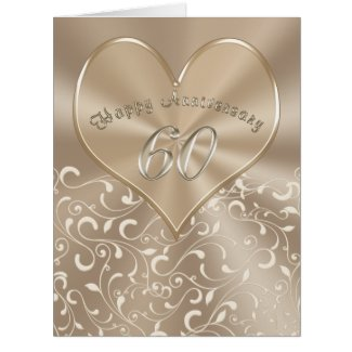 BIG Customizable 60th Anniversary Cards