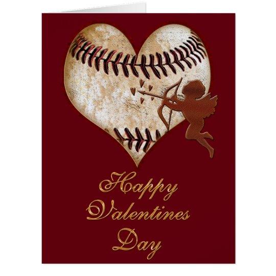 Big Customizable Vintage Baseball Valentine Cards