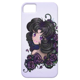 Big Cute Anime Eyes and Flowers (iphone 5 case) iPhone SE/5/5s Case