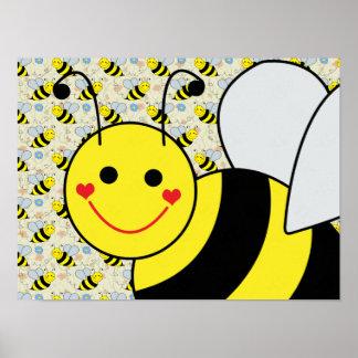 Big Cute Bumble Bee Poster