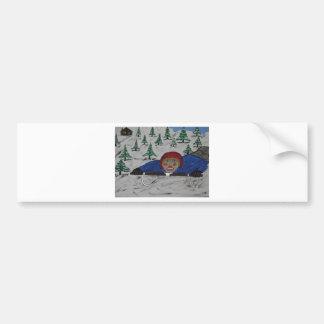 Big D Sled Ridding Bumper Sticker