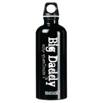 BIG DADDY Funny Water Bottle Black White for Dad